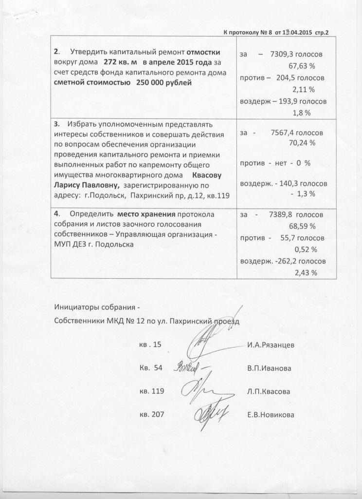 Протокол № 8 скан чб стр 2 общ собр МКД Пахр 12